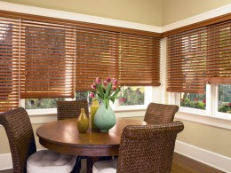 Wooden Slat Window Blinds in Delray Beach FL
