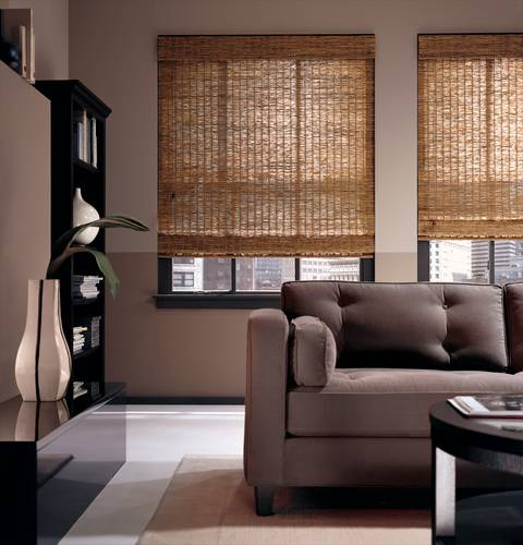 Woven Wood Horizontal Blinds - Boynton Beach, FL